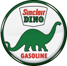 Sinclair Dino Gasoline Sign is a brand new vintage tin sign made to look vintage, old, antique, retro. Purchase your vintage tin sign from the Vintage Sign Shack and save. Vintage Metal Signs, Vintage Ads, Vintage Style, Vintage Posters, Antique Signs, Vintage Items, Garages, Earl Sinclair, Station Essence