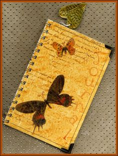 Lavendula Loveliness: Butterflies journal made with Yupo paper. By Sandra Foster.