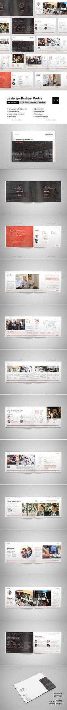 Portrait Brochure Templates Brochure template, Brochures and - company brochure templates