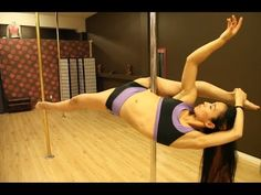 Yukari Split with Yukari Makino. #poledance #poletricks #poletutorial