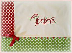 Believe Christmas Table Placemats  Primitive and polkadots on Etsy