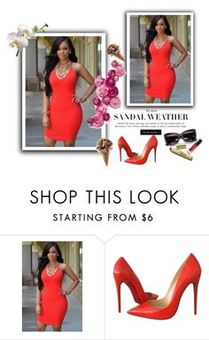 """1"" by chenzoe ❤ liked on Polyvore featuring Christian Louboutin"