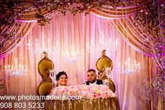 Bride and Groom at The Venetian NJ - Indian Wedding. Bridal Makeup by Mercedes Crescimbeni - Best Wedding Photographer PhotosMadeEz, Award winning photographer Mou Mukherjee, Along with DJ Sharad from DJ USA, KM Events and Design House Decor. Featured in Annual Issue of South Asian Bride Magazine 2015