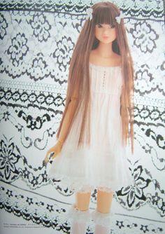 Momoko doll white dress drawers and socks set e pattern japanese crafts pdf fashion. $3.00, via Etsy.