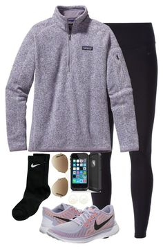 """""""Going on a hike"""" by keileeen ❤ liked on Polyvore featuring NIKE, Charlotte Russe, Patagonia, Ray-Ban, women's clothing, women's fashion, women, female, woman and misses"""