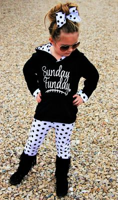 """""""Sunday Funday"""" Polka Dot Hoodie Pant Set 