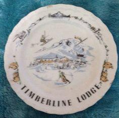 Vintage Timberline Lodge MT Hood Oregon Skiing Souvenir Plate | eBay