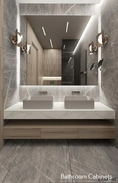 Amazing DIY Bathroom Ideas, Bathroom Decor, Bathroom Remodel and Bathroom Projects to help inspire your bathroom dreams and goals. Modern Bathroom Design, Bathroom Interior Design, Minimal Bathroom, Modern Luxury Bathroom, Modern Bathroom Sink, Modern Bathrooms Interior, Restroom Design, Bathroom Designs, Kitchen Interior