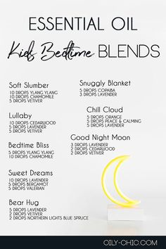 Help your little ones sleep easier with essential oil blends for bedtime.