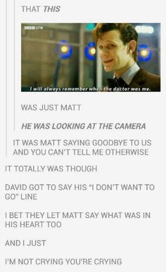 *bawls eyes out* why?! Why did Matt have to go?! I miss him!? *stops crying for some reason* okay I'm done, moving on to the next fandom.