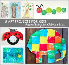 5 Art Projects for kids - inspired by popular children's books! So cute!!