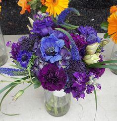 Beautiful combination of purple and blue flowers  #WeddingFlowers