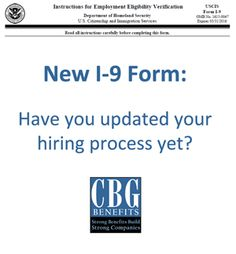Are You Using the New I-9 Form in your Hiring Process?