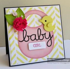 Beautiful Baby, On the Diagonal Background, Baby's Bib Die-namics, Blueprints 14 Die-namics, Layered Leaves Die-namics, Oh Baby Die-namics, Royal Rose Die-namics - Melody Rupple #mftstamps