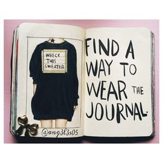 """199 Likes, 6 Comments - Sussy Laina (@ang3l3s05) on Instagram: """"Wreck this journal: I would wear this sweater every day, I would make holes in it, use it as a…"""""""