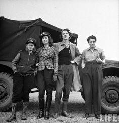 Women truck drivers, 1942.