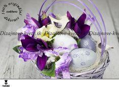 Luxusná dekorácia vo fialovej farbe