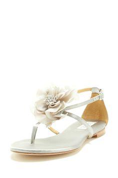 a710a2f6c80790 Badgley Mischka Zowie Flower Flat Sandal on HauteLook  81 DANCE  Cute  Sandals