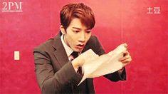 gif - how minjun would react to winning the lottery ... LOL