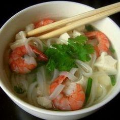 pho aux crevettes et au tofu express
