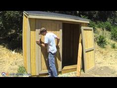 iCreatables - YouTube- how to build a shed