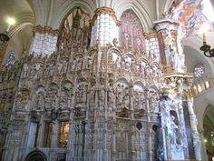 Transparente of Toledo Cathedral side view, Spain.