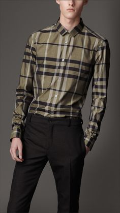 Slim Fit Check Shirt | Burberry