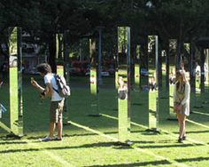 field mirror maze at sydney's hyde park