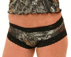 Camo Boy Shorts Panties