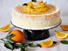 Fancy Orange Cake Step-by-Step Photo Recipe - Mamas Club Romanian Food, Cheesecakes, Amazing Cakes, Vanilla Cake, Panna Cotta, Bacon, Favorite Recipes, Sweets, Cooking