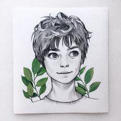 ет это не мальчик, и не ребёнок! Это девушка, и она отмечена на фото . . . . . #portrait #girl #sketchdrawing #sketch #sketchbook