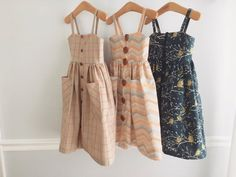 Ideas sewing baby dress pattern simple for 2019 Toddler Dress, Baby Dress, Little Girl Fashion, Kids Fashion, Fashion Outfits, Little Girl Dresses, Baby Sewing, Kids Outfits, Clothes