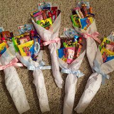 Dance recital candy bouquets