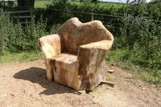 Chainsaw furniture - Mark Bowman