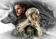 The Wolf and the Dragon Game of Thrones Emilia Clarke Jon Snow Daenerys Dessin Game Of Thrones, Arte Game Of Thrones, Game Of Thrones Artwork, Game Of Thrones Facts, Game Of Thrones Dragons, Game Thrones, Game Of Thrones Images, Jon Snow And Daenerys, Game Of Throne Daenerys