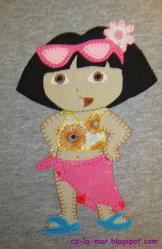 Patchwork: Camiseta de Dora