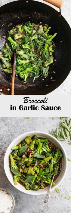 This Chinese take out style broccoli in garlic sauce is guilt free and delicious! It's quick and easy to make so what are you waiting for! Broccoli, Whole Food Recipes, Vegan Recipes, Asian Vegetables, Veggie Tales, Pescatarian Recipes, Vegetarian Keto, Garlic Sauce, Everyday Food