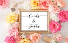 Items similar to Rustic Wedding Signs - Cards and Gifts Sign, Reception Printable, Floral Wedding Printable Art, Rustic Wedding Decor on Etsy Reserved Table Signs, Reserved Wedding Signs, Reserved Seating, Wedding Reception Signs, Rustic Wedding Signs, Wedding Signage, Reception Ideas, Table Wedding, Chalkboard Wedding