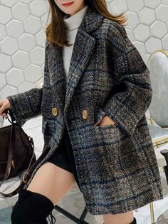 Warm Outfits, Winter Fashion Outfits, Trendy Fashion, Autumn Fashion, Casual Outfits, Iranian Women Fashion, Korean Fashion, Chanel Style Jacket, Jennie Blackpink