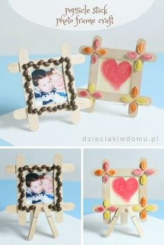 popsicle stick photo frame craft