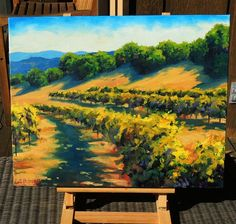 oil painting | Six Sigma Vineyards | Ugallery Online Art Gallery