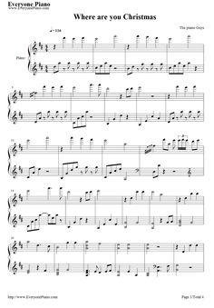 Free Where Are You Christmas piano sheet music is provided for you. Where Are You Christmas is a song covered by The Piano Guys featuring Jon\'s young daughter Sarah Schmidt during a Christmas concert in Free Christmas Music, Christmas Piano Sheet Music, Piano Guys, Piano Man, Piano Lessons, Music Lessons, Popular Piano Sheet Music, Free Piano Sheet Music, Lds Music