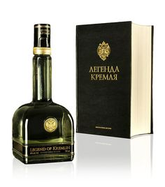 Legend of Kremlin - premium Russian vodka in a beautiful book like packaging.