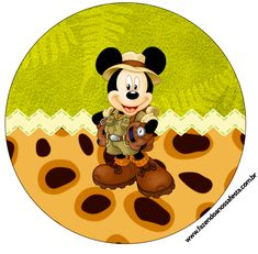 Toppers para Docinhos Mickey Safari