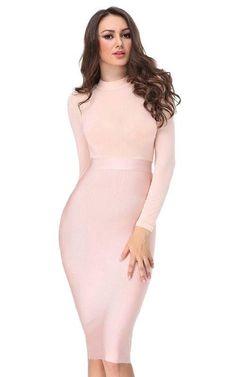 ab9fc5e753 13 Best LONG SLEEVE bandage dress images