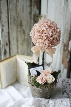 centrotavola battesimo sfere di fiori