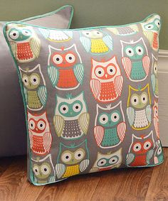 Another great find on #zulily! Colorful Owl Throw Pillow #zulilyfinds
