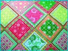 Bandana Quilt....love these colors!