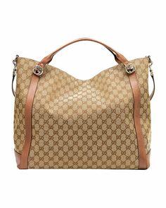 Gucci - Miss GG Original GG Canvas Top Handle Bag, Tan