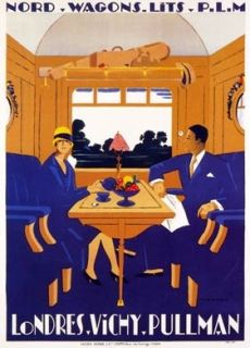 Vintage London Vichy Pullman Train Tourism Poster A4//A3//A2//A1 Print